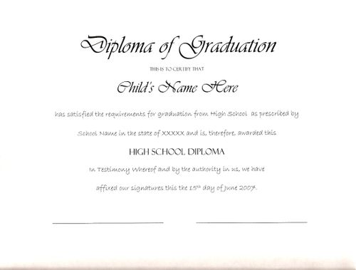 shades of white homeschool high school diploma sample